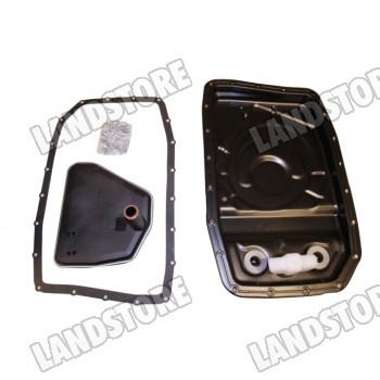 Zestaw metalowej miski olejowej skrzyni automatycznej ZF 6 biegowej z filtrem, uszczelką i śrubami diesel 2,7/3,0/3,6 / benzyna 4,0 V6/4,2 V8/4,4 AJ V8/5,0 V8 Discovery 3 / Discovery 4 / RR L322 / RR Sport